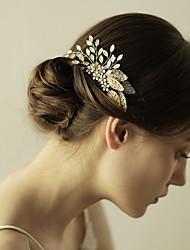 rhinestone slitina vlasy hřebeny květiny hlavice klasického ženského stylu