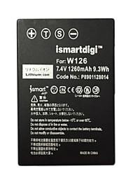 ismartdigi w126 bateria da câmera 7.4v 1260mah para fujifilm np-w126 xa3 xt20 xa10 xt2 xa2 xt10 xt1 x100f