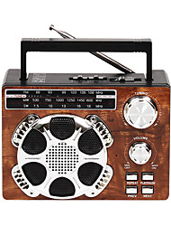 KS-832UP FM AM Radio portatil Reproductor MP3 Linterna Tarjeta SDWorld ReceiverMarrón Rojo Azul