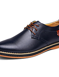 cheap -Men's Shoes Nappa Leather Spring Fall Comfort Light Soles Oxfords For Office & Career Party & Evening Blue Brown Black