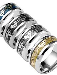 preiswerte -Herrn Damen Bandring Gold Schwarz Silber Dunkelblau Titanstahl Anderen Modisch Alltag Modeschmuck