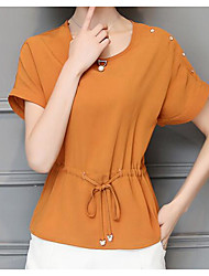 cheap -Women's Casual Blouse - Solid Colored