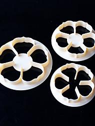 Недорогие -3pcs / set цветок формы галстук формы печенье формы пластик белый сахар искусства набор fondant cookie