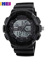 Недорогие -SKMEI Муж. Цифровой электронные часы Спортивные часы Календарь Защита от влаги Фосфоресцирующий Хронометр С двумя часовыми поясами PU