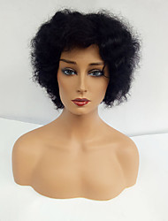 cheap -Human Hair Capless Wigs Human Hair Afro For Black Women Short Machine Made Wig Women's