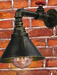 cheap -Loft Retro Industrial Wall Sconce Restaurant And Bar Metal Water Pipe Wall lamp