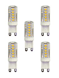 cheap -5 pcs 2.5W G9 LED Bi-pin Lights T 33 leds SMD 2835 Warm White White 210lm 3000-3500/6000-6500K AC 220-240V