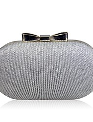 cheap -Women Bags Polyester Evening Bag Bow(s) Ruffles for Wedding Event/Party All Seasons Gold Black Silver