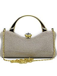 Women Bags All Seasons Special Material Shoulder Bag Beading Crystal Detailing for Event/Party Formal Gold Black Silver Almond