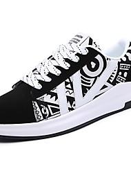 Herren Schuhe Gummi Frühling Herbst Komfort Sneakers Schnürsenkel Für Weiß Schwarz Schwarz/weiss Orange & Schwarz