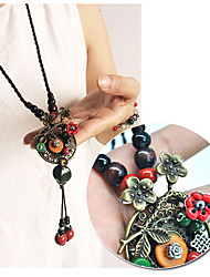 cheap -Women's Flower Personalized Fashion Pendant Necklace Alloy Pendant Necklace , Gift Daily
