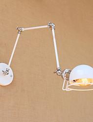 billige -Land / Retrorød / Moderne / Nutidig Swing Arm Lights Metal Væglys 110-120V / 220-240V 2-60W