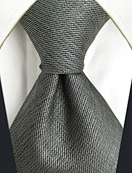 cheap -Men's Silk Necktie,Vintage Cute Party Work Casual Solid All Seasons Gray