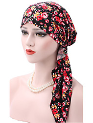 Women's Cotton Floppy Hat,Pattern Print Spring/Fall Winter Pure Color