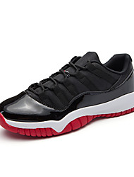 cheap -Men's Athletic Shoes Comfort Fall Winter Leatherette Basketball Shoes Athletic Lace-up Flat Heel Black/Red Black/White Blue Black Flat