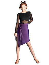 preiswerte -Latein-Tanz Unten Damen Leistung Milchfieber Eis-Seide Röcke