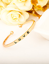 cheap -Men's Women's Cuff Bracelet Jewelry Open Simple Style Alloy Round Heart Jewelry For Party Birthday Graduation Gift Casual Valentine Date