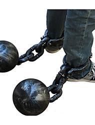 Halloween prisionero cosplay props footcuffs bloqueo del pie tobilleras mano plástico gran bola de hierro