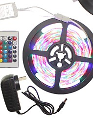 5m 300x2835led strip light sets impermeável rgb 24 chave controlador ac100-240v au / eu / us / uk power plug dc12v 2a