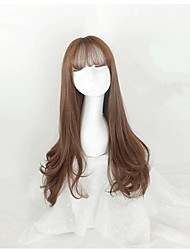 cheap -Women Long Brown Wavy Synthetic Hair Capless Celebrity Wig Costume Wigs