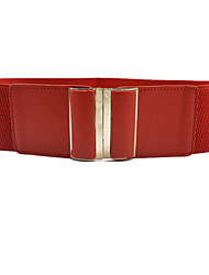 cheap -Women's Dress Belt Fabric Alloy Skinny Belt - Solid Colored Shiny Metallic Fashion