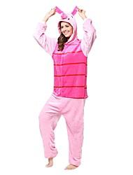 Kigurumi Pajamas Piggy/Pig Costume Pink Flannel Kigurumi Leotard / Onesie Cosplay Festival / Holiday Animal Sleepwear Halloween Animal