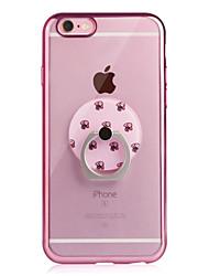 Per iPhone 6 iPhone 6 Plus Custodie cover Placcato Supporto ad anello Transparente Custodia posteriore Custodia Tinta unica Morbido TPU