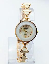 Mulheres Relógio de Moda Bracele Relógio Relógio Casual Quartzo Rosa Folheado a Ouro Lega Banda Pontos Casual Preta Branco Azul Rosa Roxa