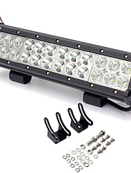 1PCS Adjustable Angle 12'' 72W 5760LM 6000K LED Light Bar Fitted for Middle Position Installation