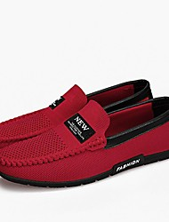 Men's Shoes Knit Spring Fall Driving Shoes Loafers & Slip-Ons Applique For Casual Office & Career Red Black