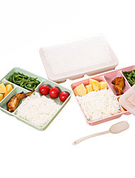 cheap -Wheat Straw Plastic Microwave Tableware Lunch Bento Box Food Storage Container Lunch Boxs