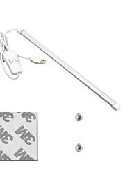 Недорогие -1set три режима (природа / теплый белый / белый) изменение цвета портативный usb led night light tube hardid strip bar light