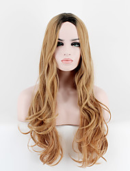 cheap -Synthetic Wig Straight Ombre Hair Blonde Women's Capless Cosplay Wig Long Very Long Synthetic Hair