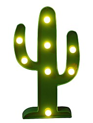 BRELONG 3D Warm White Kids Room Decoration Night Light Light Wedding Decorative Light - Cactus