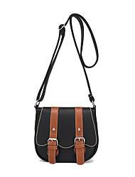 cheap -Women Bags PU Crossbody Bag Buttons for Casual Office & Career All Seasons Blue Black Red Beige Khaki