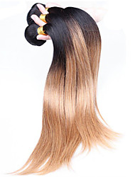 Ombre Hair Weaves Brazilian Texture Straight 12 Months Three-piece Suit hair weaves