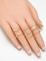 cheap -Women's Alloy Leaf - Metallic / Fashion Gold Ring For Daily / Casual / Evening Party