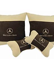Automobile Kits de coussin de repose-tête et de taille Pour Mercedes-Benz BMW Audi Toutes les Années Appuie-tête de Voiture Tissus
