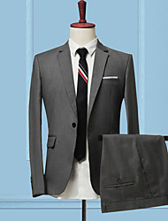 cheap -Men's Slim Suits-Solid Colored,Patchwork