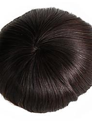 maschera di capelli umana 7x9 centimetri di base dei capelli umani dei capelli del monofilo del sistema del rimontaggio dei capelli del