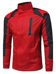 Men's Sports Casual/Daily Simple Winter Fall Jacket,Color Block Hooded Long Sleeve Regular Cotton