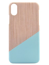 economico -Per iPhone X iPhone 8 Custodie cover Fantasia/disegno Custodia posteriore Custodia Simil-legno Resistente PC per Apple iPhone X iPhone 8