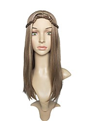 Women Synthetic Wig Capless Long Straight Brown/Burgundy Layered Haircut Party Wig Celebrity Wig Halloween Wig Cosplay Wigs Natural Wigs