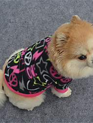cheap -Dog Sweatshirt Dog Clothes Casual/Daily Geometic Black Purple Fuchsia Costume For Pets
