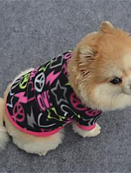 preiswerte -Hund Pullover Hundekleidung Geometrisch Schwarz Purpur Fuchsia Polar-Fleece Kostüm Für Haustiere Lässig/Alltäglich