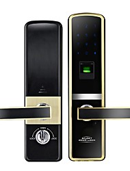 cheap -Home Fingerprint Lock Smart Password Lock Electronic Door Lock Security Door Lock Wooden Door Lock For Home Office Apartment Hotel