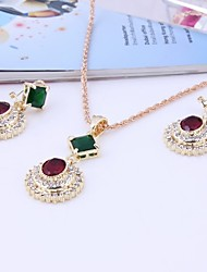 cheap -Women's Simple Style Fashion Wedding Daily Cubic Zirconia Rhinestone Necklace Earrings