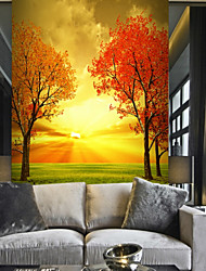cheap -Tree Nature & Landscapes Leaf Home Decoration Pastoral Style Modern Wall Covering, Canvas Material Adhesive required Mural, Room