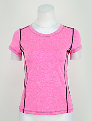 abordables -Tee-shirt de Course Tee-shirt Hauts/Top pour Yoga Exercice & Fitness Course/Running Modal Polyester Violet Fuchsia S M L XL