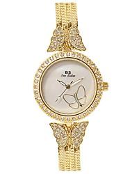 Women's Wrist watch Simulated Diamond Watch Bracelet Watch Quartz Chronograph Water Resistant / Water Proof Luminous Stainless Steel Band